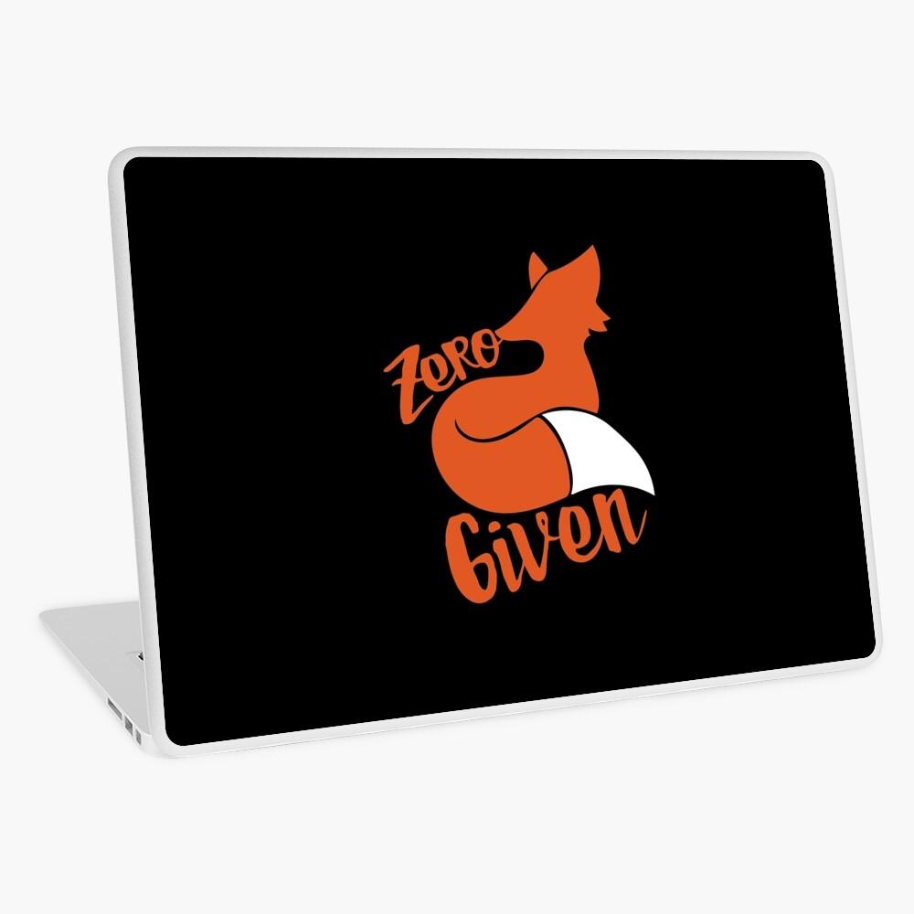 Zero FOX dado Vinilo para portátil