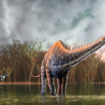 Artwork of Diplodocus Dinosaur by magarlick