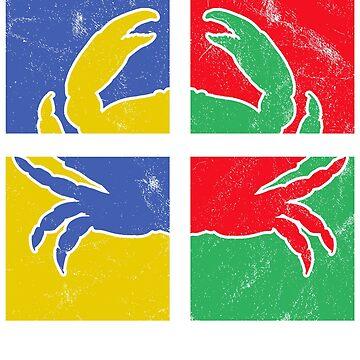 Crab Pop Art by 4tomic
