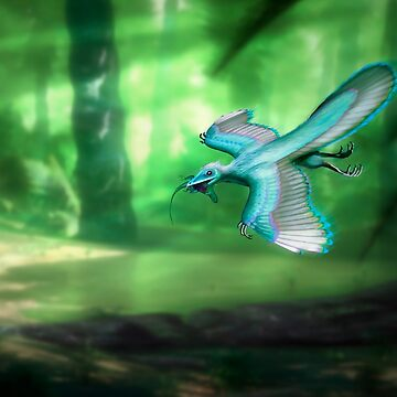 Archaeopteryx and Prey by magarlick
