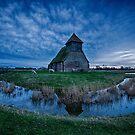 Twilight At Fairfield Church by Dave Godden