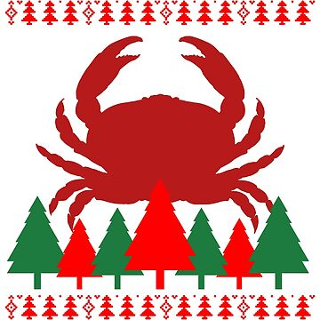 Crabs Christmas Funny by 4tomic