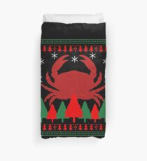 Crabs Christmas Funny Duvet Cover