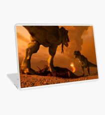 Showdown - Artwork of Tyrannosaurus Rex Laptop Skin