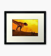 Stalker - Artwork of Tyrannosaurus Rex Framed Print