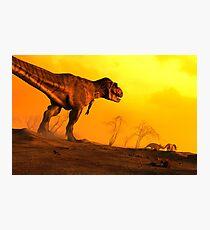 Stalker - Artwork of Tyrannosaurus Rex Photographic Print
