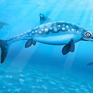 Ophthalmosaurus - Extinct Marine Reptile by Mark A. Garlick