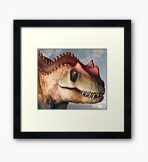 Ceratosaurus Dinosaur Head Study Framed Print