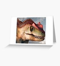Ceratosaurus Dinosaur Head Study Greeting Card