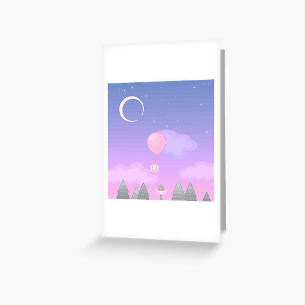 Animal Crossing Evening Greeting Card