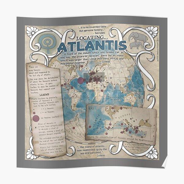 Locating Atlantis (grey)  Poster
