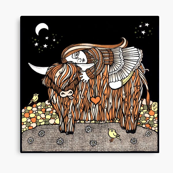 Hayleys Heeland Coo Canvas Print