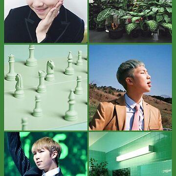 BTS RAINBOW SERIES: GREEN RM by attackonotaku