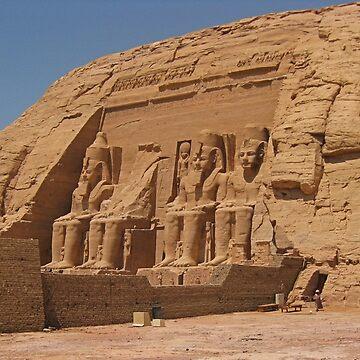Abu Simbel Egypt by Johnhalifax