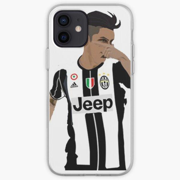 Paulo Dybala Mask Celebration Juventus Illustration Design iPhone Soft Case