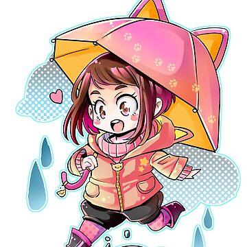 Rainy Uraraka by Kamapon