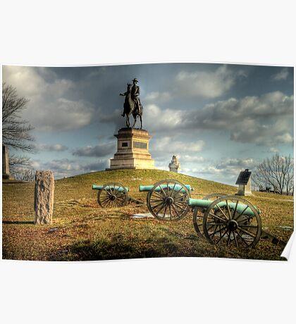 The Battlefield at Gettysburg Poster