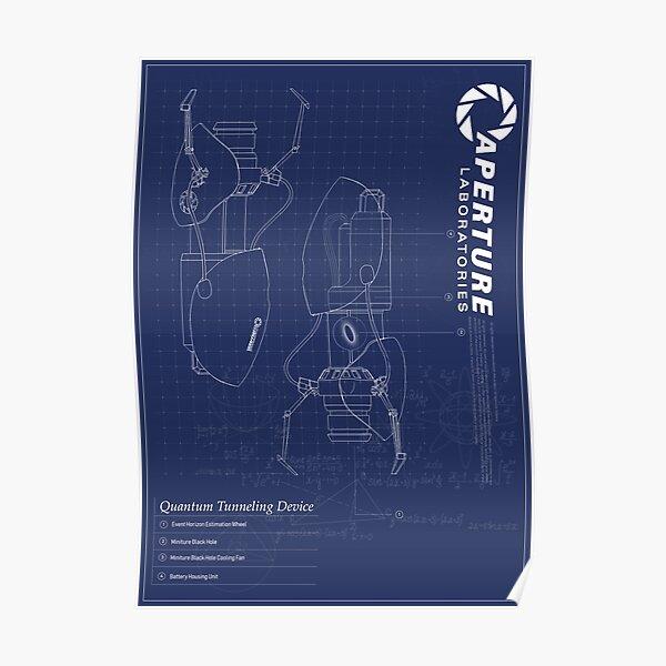 Portal 2 - Fan Blue Print Poster