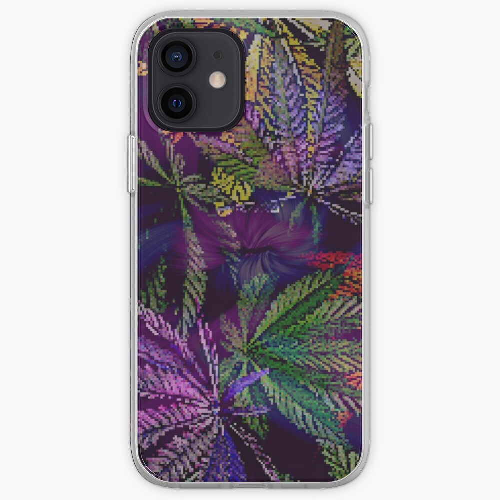 Psychedelic Marijuana Cannabis Leaves iPhone Case & Cover