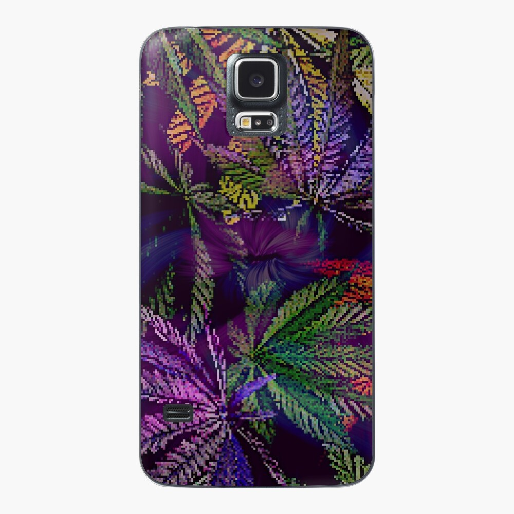 Psychedelic Marijuana Cannabis Leaves Case & Skin for Samsung Galaxy