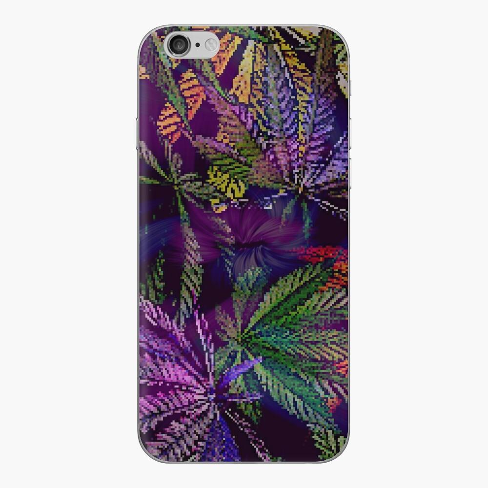 Psychedelic Marijuana Cannabis Leaves iPhone Skin