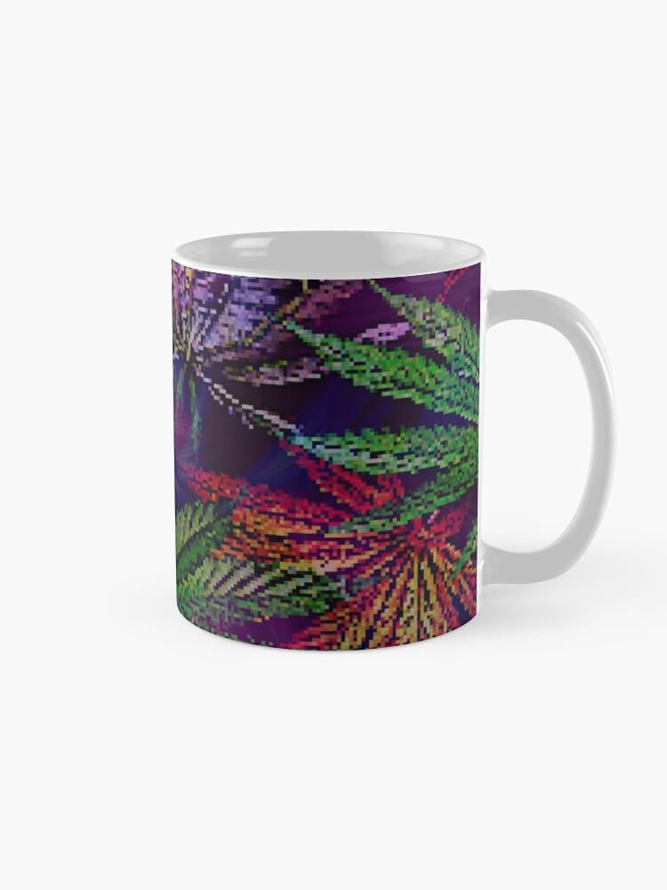 Alternate view of Psychedelic Marijuana Cannabis Leaves Mug