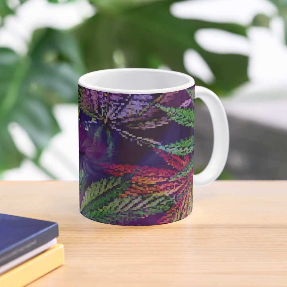 Psychedelic Marijuana Cannabis Leaves Mug