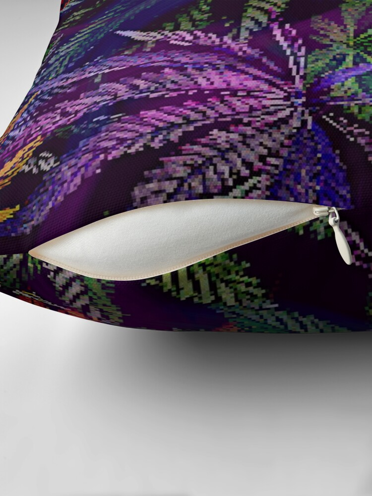 Alternate view of Psychedelic Marijuana Cannabis Leaves Throw Pillow