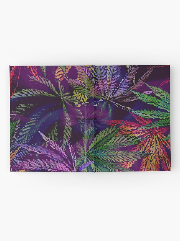 Alternate view of Psychedelic Marijuana Cannabis Leaves Hardcover Journal