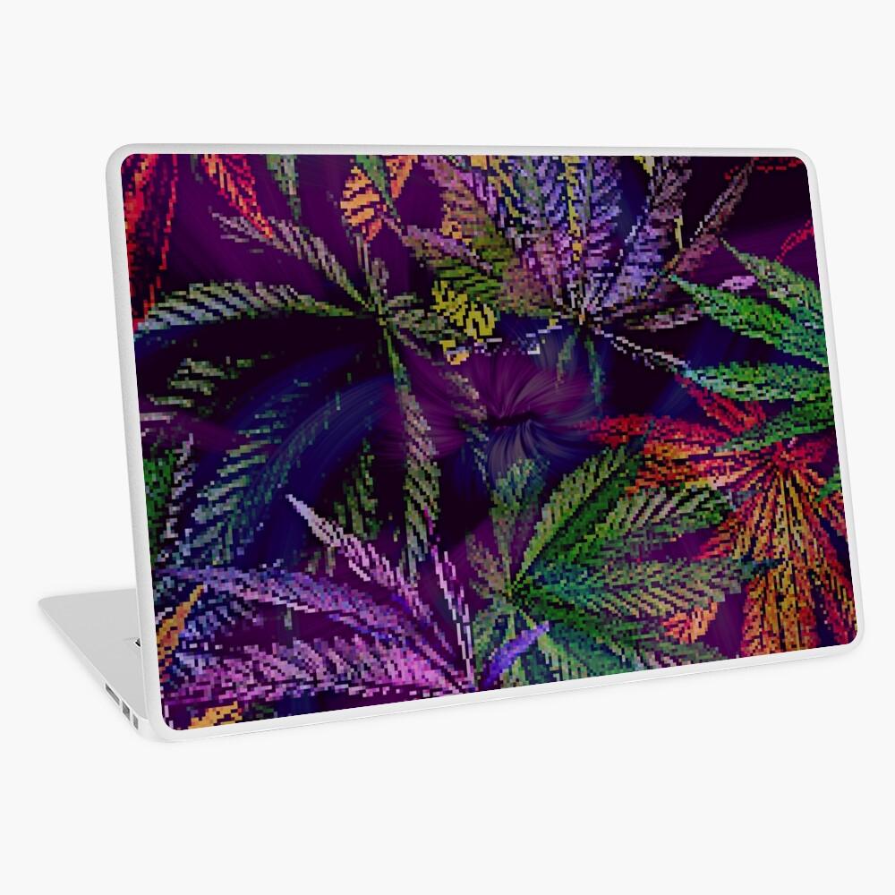 Psychedelic Marijuana Cannabis Leaves Laptop Skin