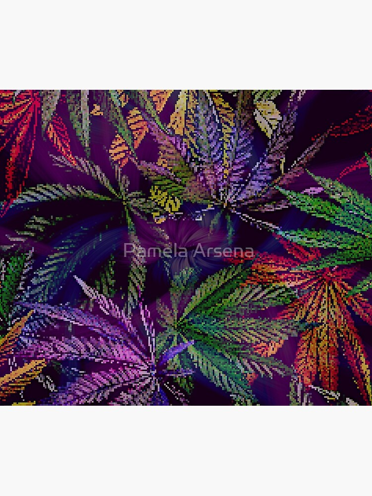 Psychedelic Marijuana Cannabis Leaves by xpressio