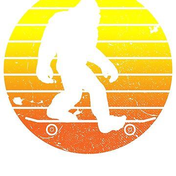 Skateboard Yeti by 4tomic
