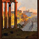 Vintage Rome Italy Travel Vacation Holiday Advertisement Art Poster by jnniepce