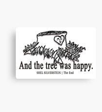 Der Giving Tree von Shel Silverstein Leinwanddruck