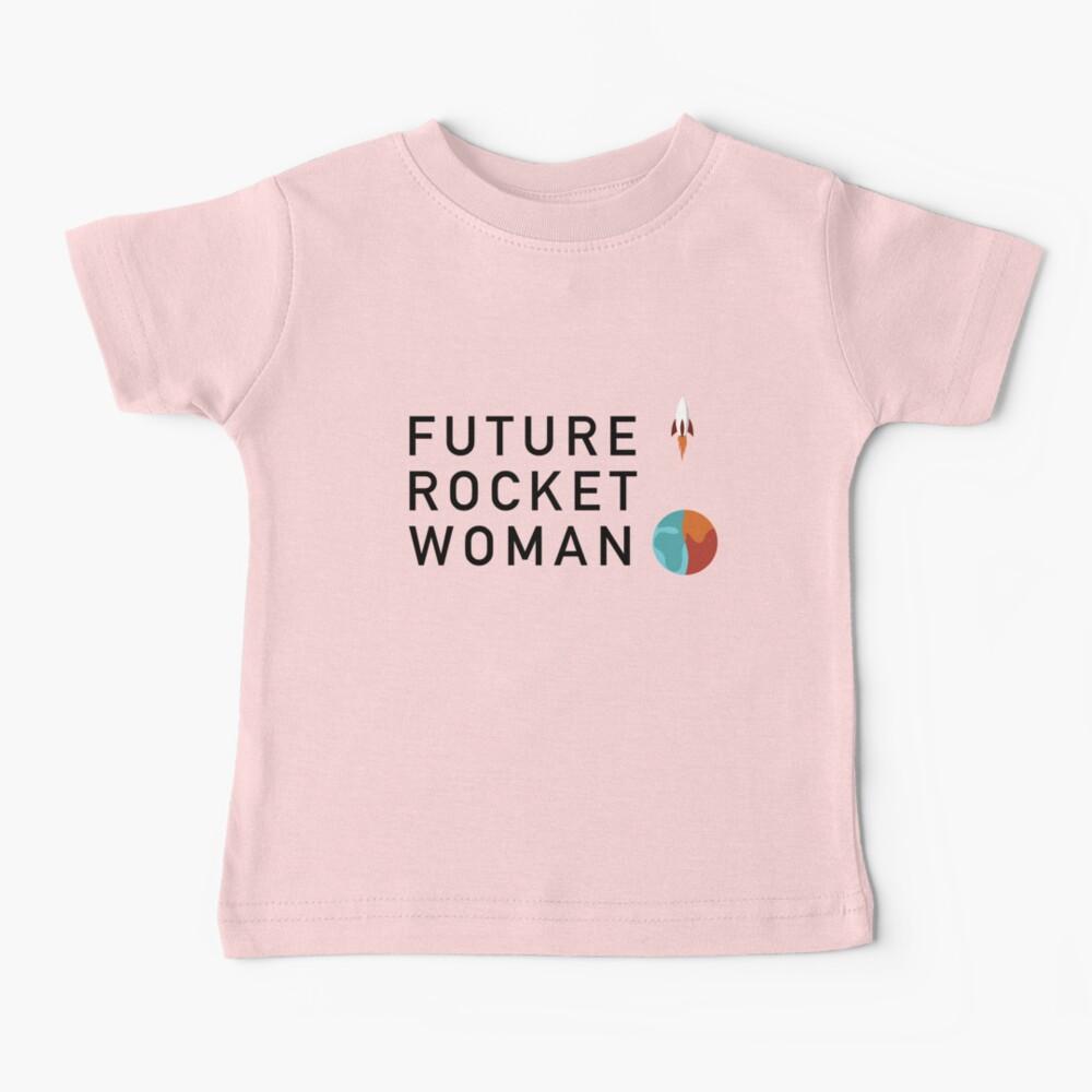 Future Rocket Woman - Kids Black Text Baby T-Shirt
