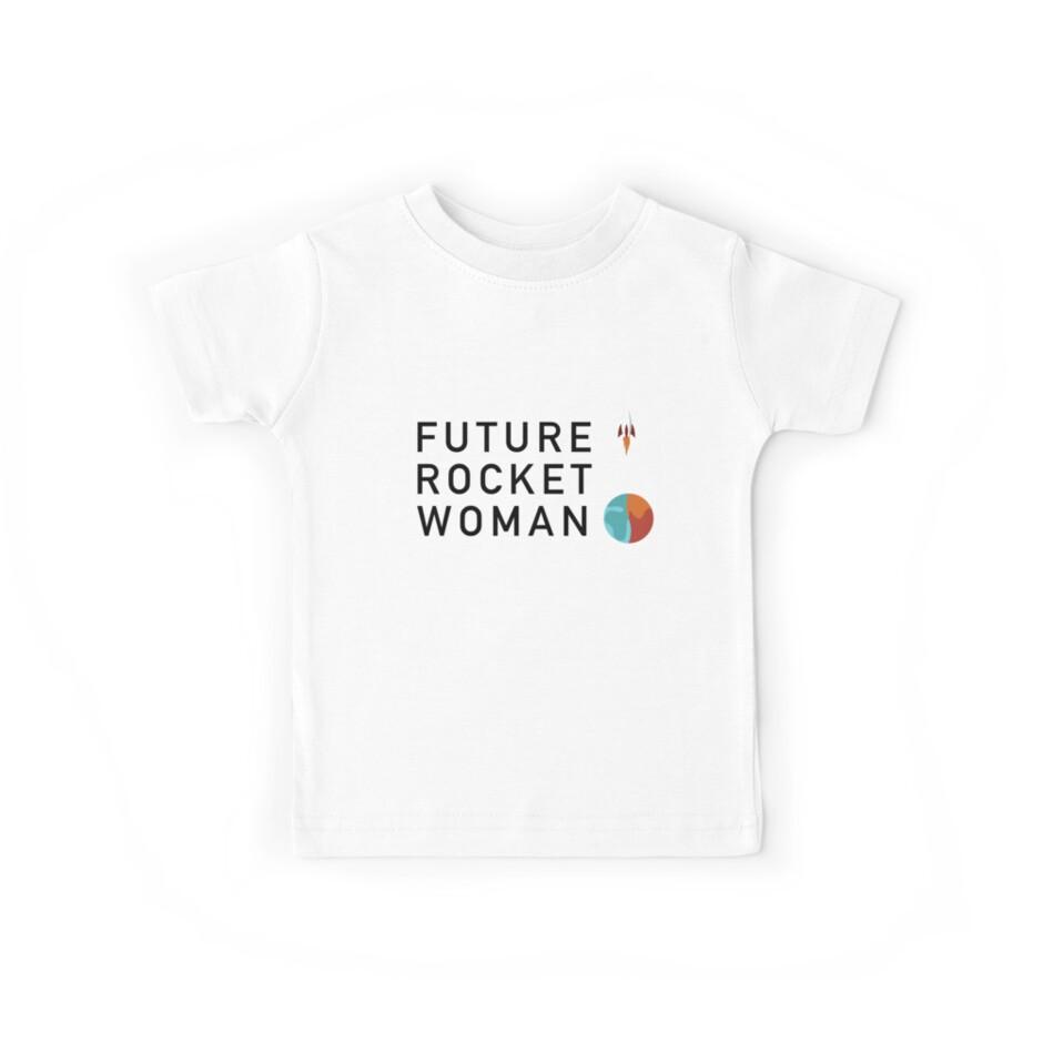 Future Rocket Woman - Kids Black Text by RocketWomen