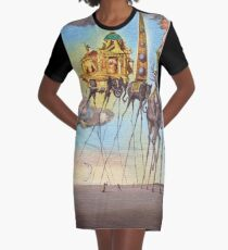 The temptation of st. Anthony Graphic T-Shirt Dress