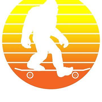 Skateboarder Yeti by 4tomic
