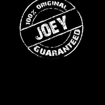 100% Original JOEY Guaranteed T-Shirt Funny Name Tee by VKOKAY