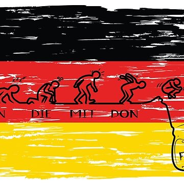 Germany Flag - Drinking Beer Weekend by AlmostBrand