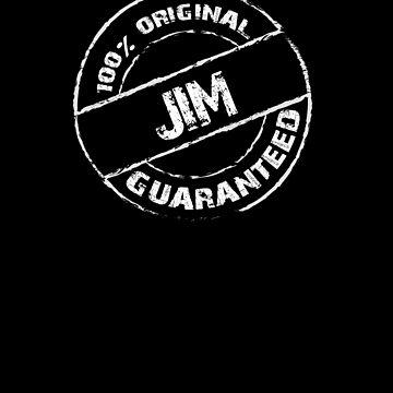 100% Original JIM Guaranteed T-Shirt Funny Name Tee by VKOKAY