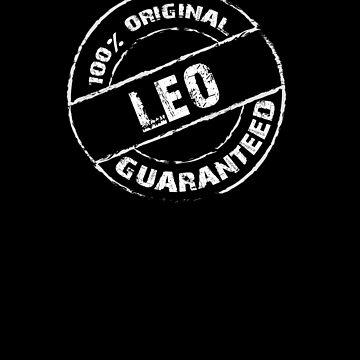 100% Original LEO Guaranteed T-Shirt Funny Name Tee by VKOKAY