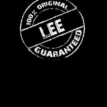 100% Original LEE Guaranteed T-Shirt Funny Name Tee by VKOKAY