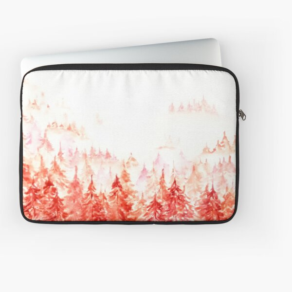 Pines Forest-abstract watercolor Laptop Sleeve