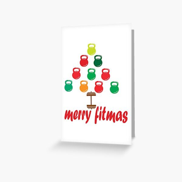 Merry Fitmas Greeting Card