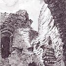 Cilgerran Castle, Pembrokeshire by Barnaby Edwards