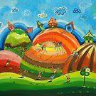 Kites in the sky by Radosveta Zhelyazkova