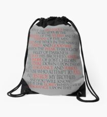 Pulp Fiction Ezekiel 25 17 Drawstring Bag
