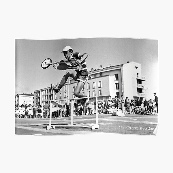 Course de trottinettes, années 60 (©JP Boudon) Poster