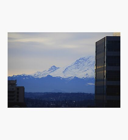 Mt. Rainier from Seattle Photographic Print